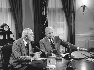 President Eisenhower Introduced Sec. of State John Foster Dulles, Who Discussed the Suez Crisis