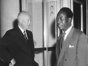 President Eisenhower with Kwame Nkrumah, President of Ghana