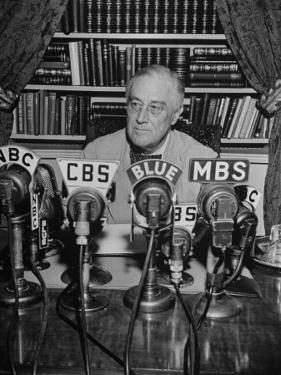 President Franklin D. Roosvelt, Broadcasting a Speech over the Radio from the White House