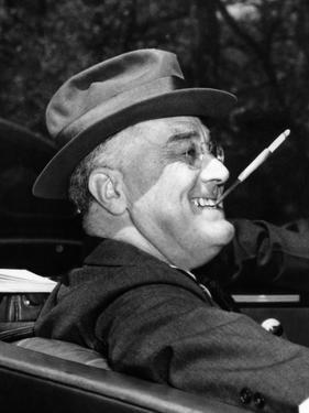 President Franklin Roosevelt, Debonair with His Cigarette Holder, 1939