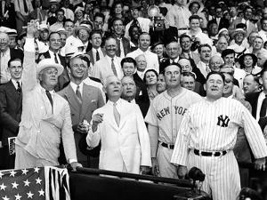 President Franklin Tossed Out the Ball Starting the All-Star Game in Griffith Stadium, Washington