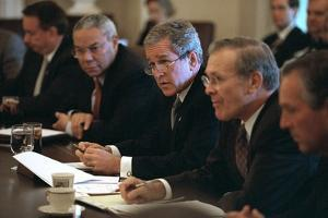 President George W. Bush Meets with His Cabinet on Oct. 10, 2001