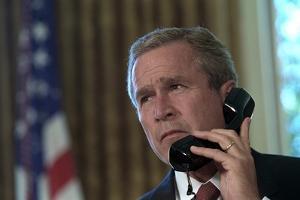 President George W. Bush on Telephone to Ny Gov. George Pataki and Nyc Mayor, Rudolph Giuliani