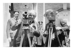 President Harding Tries Out a Motion Picture Camera