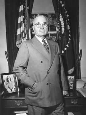 President Harry Truman at the White House Office, April 5, 1946