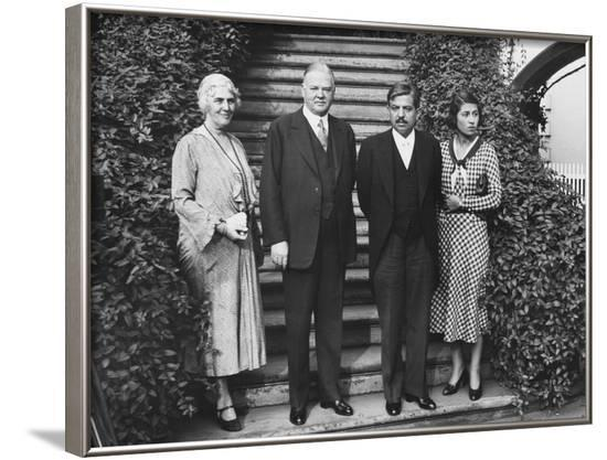 President Herbert Hoover Holds Meeting with French Prime Minister Pierre Laval--Framed Photo
