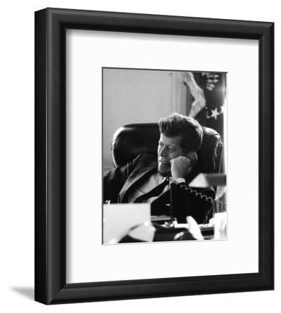 President John F. Kennedy in the Oval Office
