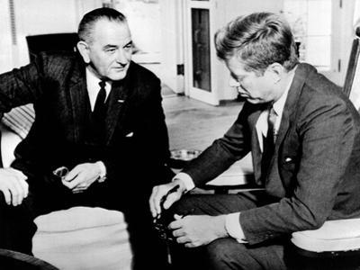 President John Kennedy Meeting with Vice President Lyndon Johnson