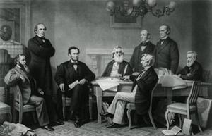 President Lincoln's First Reading of the Emancipation Proclamation
