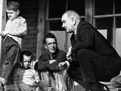 President Lyndon Johnson in Conversation the Tom Fletcher Family of Inez, Kentucky