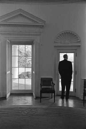 lbj oval office. President Lyndon Johnson Looking Out Doorway Of The Oval Office, Jan. 24, 1066 Lbj Office T