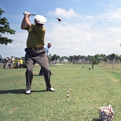 President Lyndon Johnson Playing Golf at Ramey Air Force Base, Puerto Rico, 1968