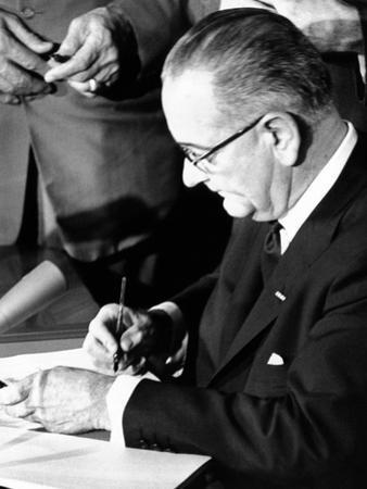 President Lyndon Johnson Signing the 1964 Civil Rights Bill, July 2, 1964