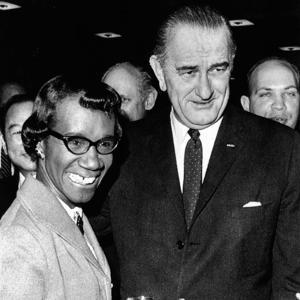 President Lyndon Johnson with Newly Elected Congresswomen Shirley Chisholm of New York