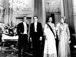 President Richard and Pat Nixon at the Shah's Niavaran Palace