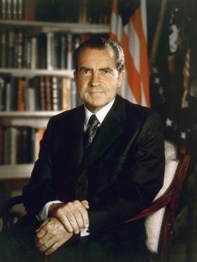 President Richard Nixon in an Official Portrait Taken in the Oval Office. July 8 1971