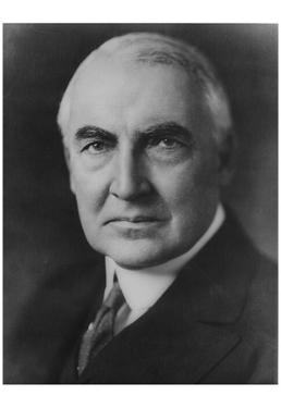 President Warren Harding (Portrait) Art Poster Print
