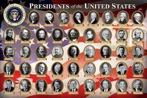 Presidents of the United States (2016 Edition) Educational Poster Print