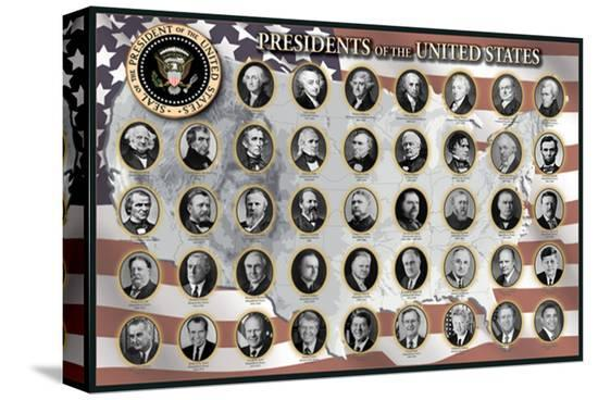 Presidents of the United States--Stretched Canvas