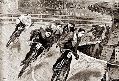 Women Track Cyclists, 1898