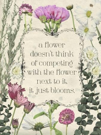 Pressed Floral Quote III