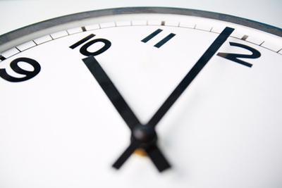 Clock Face Showing Ten o'Clock