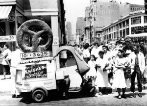 Pretzel Vendor, Brooklyn, New York, c.1956