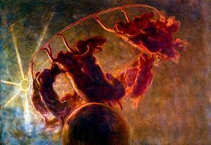 Previati The Dance of the Hours 2 Art Print Poster