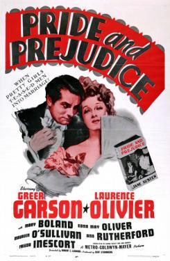 Pride and Prejudice, Laurence Olivier, Greer Garson, 1940
