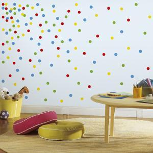 Primary Confetti Dots Peel And Stick Wall Decals