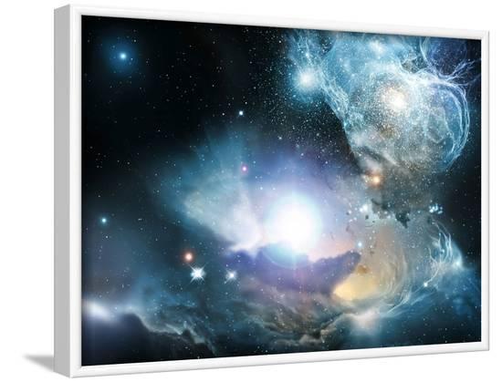 Primordial Quasar, Artwork--Framed Photographic Print
