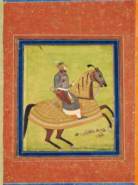 Prince Azam Shah on Horseback