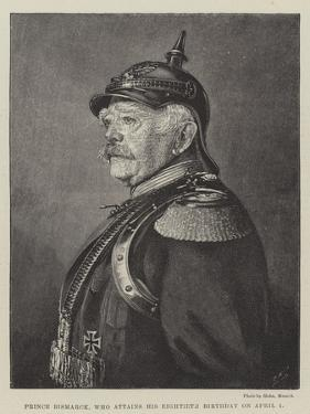 Prince Bismarck, Who Attains His Eightieth Birthday on 1 April