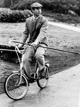 Prince Charles Riding Bike November 1983