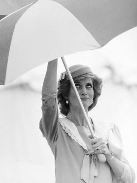 Princess Diana in Berkshire on a Stormy Day June 1985