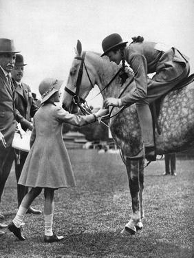 Princess Elizabeth at Children's Day, Richmond Horse Show, C1936