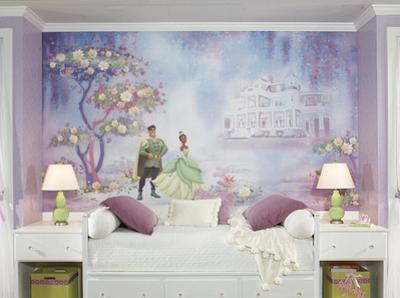 Princess & Frog Chair Rail Prepasted Mural