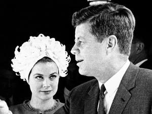 Princess Grace of Monaco and President John F Kennedy