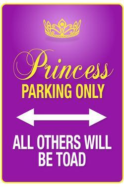 Princess Parking Only Purple