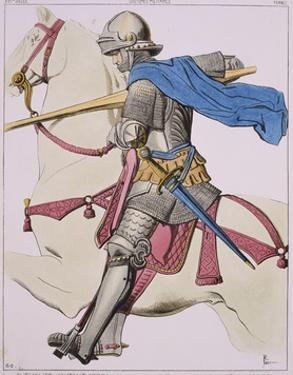 Print Depicting a Knight in Armor on Horseback