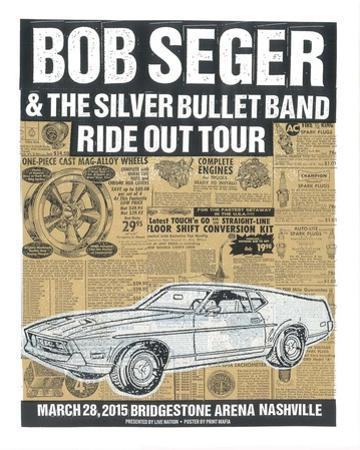 Bob Seger Ride Out Tour by Print Mafia