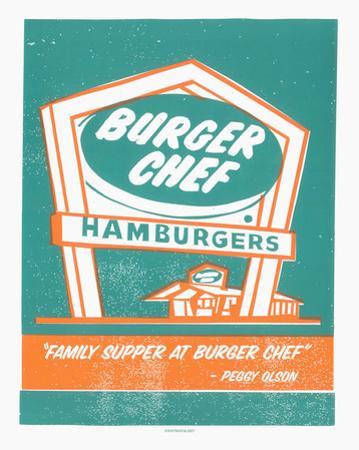 Mad Men Burger Chef by Print Mafia
