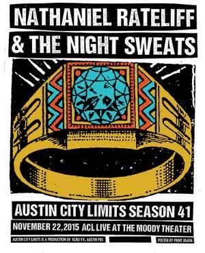 Nathaniel Rateliff & the Night Sweats by Print Mafia