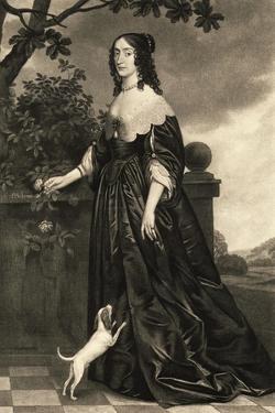 Print of Portrait of Elizabeth, Queen of Bohemia after Gerhard Honthorst