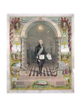 Print of President George Washington Dressed as a Freemason
