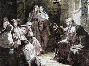 Cloistered Nuns, Gospel Reading, 19th Century by Prisma Archivo