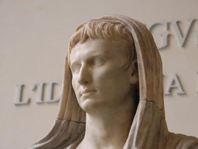 First Emperor of the Roman Empire, Marble Statue, Roman National Museum, Rome, Italy