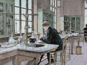French Chemist and Bacteriologist. Study of Microbes in the Pasteur Institute by Prisma Archivo