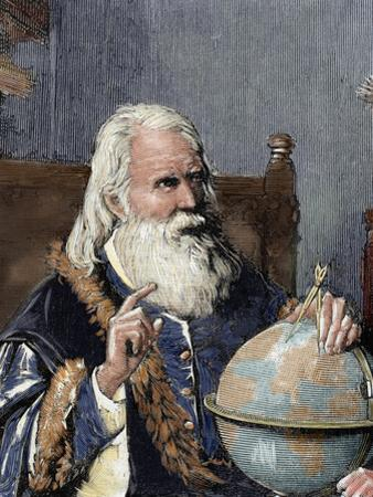 Galileo Galilei (1564-1642). Physicist, Italian Mathematician and Astronomer by Prisma Archivo