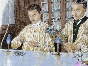 Louis Pasteur (1822-1895). French Chemist and Bacteriologist. Experiment with the Anthrax Vaccine by Prisma Archivo